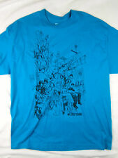 Zoo York NYC subway skate short sleeve t shirt men's blue size XL