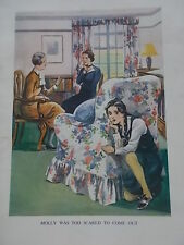 Original 1937 Print / Book Illustration from EVERY GIRLS STORY BOOK MOLLY HIDING