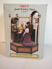 "Enesco Ye Olde Barber Shop Multi-Action/Light Music Box ""Sweet Adeline"" in Box"
