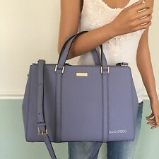 NEW! KATE SPADE Purple Saffiano Leather Carryall Tote Shoulder Crossbody Bag