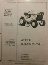 Sears Suburban Mower Deck Owners & Parts Manual for 10/6 12/6 14/6 Tractor 20pg
