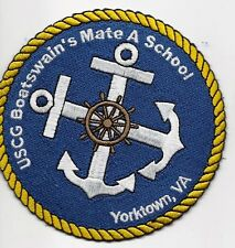 "USCG United States Coast Guard Patch ""Boatswain's Mate"" Yorktown, VA."" 4 In"