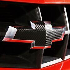 Carbon Fiber Chevy Camaro GRILLE & TRUNK Bowtie 3M Emblem Decal 2010-2013 Logo