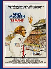 1970s 24 Hours Le Mans Movie Steve McQueen Race Car Advertisement Poster #1