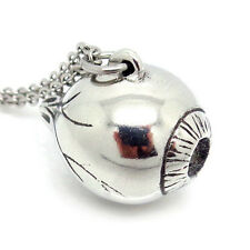 Eyeball Necklace, Handmade Eye Pendant Human Anatomical Jewelry in Pewter