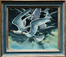 STUART MAXWELL ARMFIELD 1916-2000 BRITISH SEAGULLS ST IVES CORNWALL OIL PAINTING