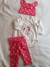 H&M Baby Girl Bunny Outfit Age 0-1 Month Perfect For Easter