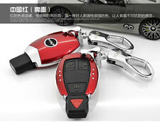 Red Smart Key Remote Cover Case Holder Fits Mercedes Benz AMG Class C E S GL CLA
