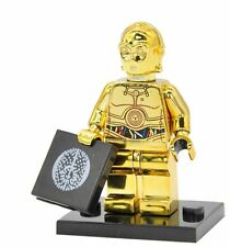 Chrome GOLD C-3PO from Star Wars Mini Figure for Lego UK Fast & Free