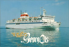 SHIP POSTCARD - ESTONIAN SHIPPING COMPANY M/S GEORG OTS IN MINT CONDITION