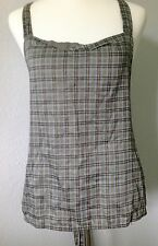 **44/M** Prada 100% Cotton Lined Halter Dress Blouse Shirt Top Tunic Tank ITALY