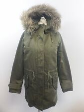 Jack Wills Stoneham Parka Khaki Green Size UK 6 RRP £149 Box4667 A