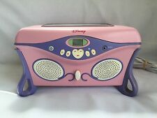 Disney Princess CD Player Jukebox Jewelry Box Pink WORKS GREAT! Cinderella Belle