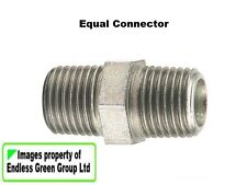 PCL Air Compressor / tool fitting:  1/4 BSP Equal Connector - double male  63356