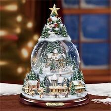 THOMAS KINKADE Wondrous Winter Snowglobe Tree LIGHTED MUSICAL NEW