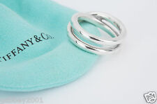 Tiffany & Co. Sterling Silver Paloma Picasso Le Circle Crossover Ring Size 7
