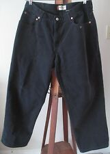 Levi's 550 Black Jeans Mens Size 36 x 29 Relaxed Fit Straight Leg Distressed