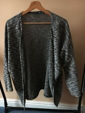 Atmosphere Size XS 8 Black Tweed Knit Open Cardigan  T10133
