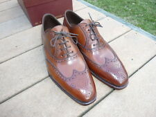 NEW! Carmina Cognac Shell Cordovan Shortwing 922 sz 9.5D-8UK Shoe Bags NWB
