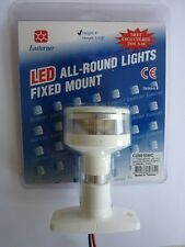 "ALL ROUND LED LIGHT 4"" FIXED MOUNT WHITE NAVIGATION  BOAT RIB KAYAK SAIL"