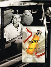 PUBLICITE ADVERTISING 034   1992   BURBERRYS   parfum  SOCIETY