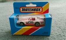 MATCHBOX CHEVROLET CORVETTE - MB62 WHITE & RED 1979 MINT MACAU + 1981 OPENED BOX