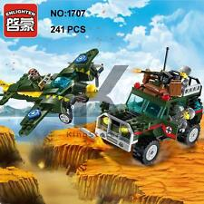 Enlighten 1707 Military Army Bomber Jeep Car Building Block Toy lego Compatible