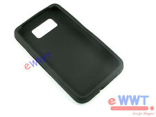 for HTC HD2 HD II 2nd Gen 2 T8585 * Black Silicone Skin Soft Cover Case ZVSC723