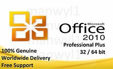 Microsoft Office 2010 Professional Pro Plus 32 / 64 bit License Key Scrap PC