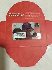 Starbucks Singapore MINI Squirrel Christmas Xmas Card 2016