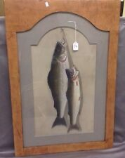 Early 19th Century painting of fish in grain painted frame Lot 19