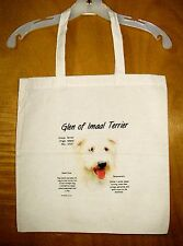 "GLEN OF IMAAL TERRIER  ""History of the Breed"" Cotton Tote Bag  / 15""x15"""