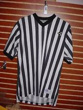 MEDIUM Striped Referee Shirt By Cliff Keen Basketball Football Costume Lot ZZ