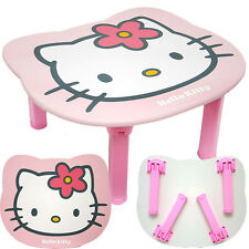 Sanrio Hello Kitty Folded Wooden Table Pink  Work Table  with Flower Bow