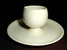 WS George Solid Ivory RANCHERO Single Egg Cup w Attached Saucer