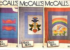 Lot of 3 McCall's Patterns QUICK QUILTS - RAINBOW SUNSET 7812 7815 & 7814 UNCUT