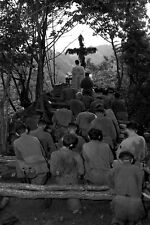 New 5x7 Korean War Photo: Chaplain Conducts Services North of Hwachon, Korea