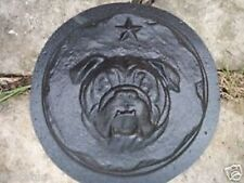 gostatue plaster concrete mold  abs plastic bulldog stepping stone mould