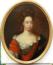 Portrait Dame Noblesse Française sous Louis XIV HST Maître du XVIIème siècle