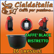 16 capsule Caffè Gusto Black Ristretto Cialdeitalia comp. Nescafè Dolce Gusto
