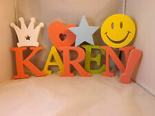 Large Foam Letters And Symbols Spelling Karen With a Smiley Face, A Heart Etc.