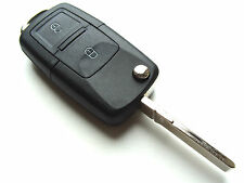 VW Golf Bora Jetta Passat 2 Button Flip Remote Key Fob Case + Blank HAA Blade