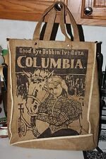 Burlap Tote/Bag/Purse 1896 Goodbye Dobbin I've Got a Columbia S.R.Burleigh