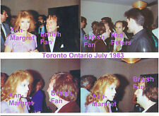 ANN MARGRET WITH BRITISH FAN IN TORONTO ONTARIO IN JULY 1983  LOT OF 4 PHOTOS