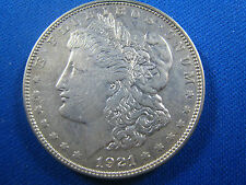 U.S.  1921   MORGAN DOLLAR - AU       (cnm$5)