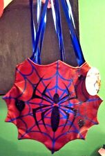 """Ladies """" SPIDERGIRL BAG """" Halloween Metallic Purse Back Accessory by Disguise"""
