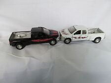Lot of New Ray Dually Dodge ram trucks  diecast metal