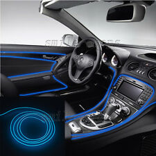 12V 2M Blue EL Wire Car Interior Atmosphere Light Neon Strip Cold Light Tape