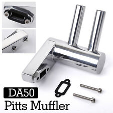 New Pitts Muffler Exhaust Pipe for DA50/DLE50/DLE55 GP50R RC Gas Engine