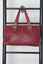 COACH RED LEATHER TOTE BAG # 9545